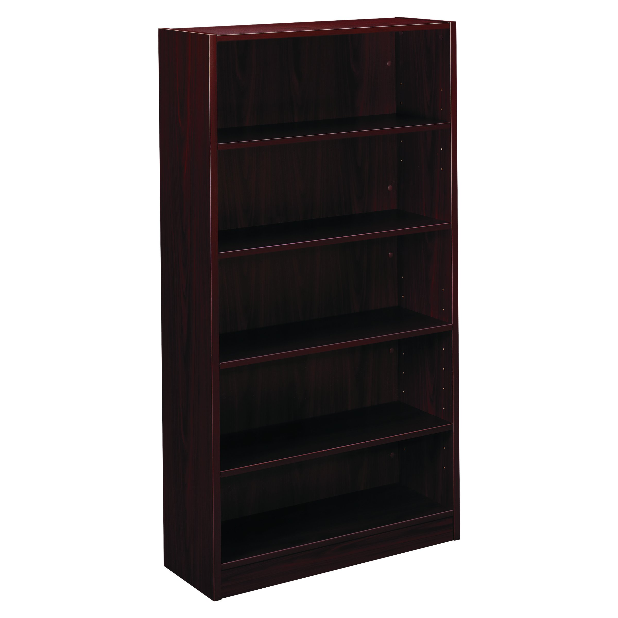 Basyx 5-Shelf Bookcase, 32 by 13-13/16 by 65-3/16-Inch, Mahongay