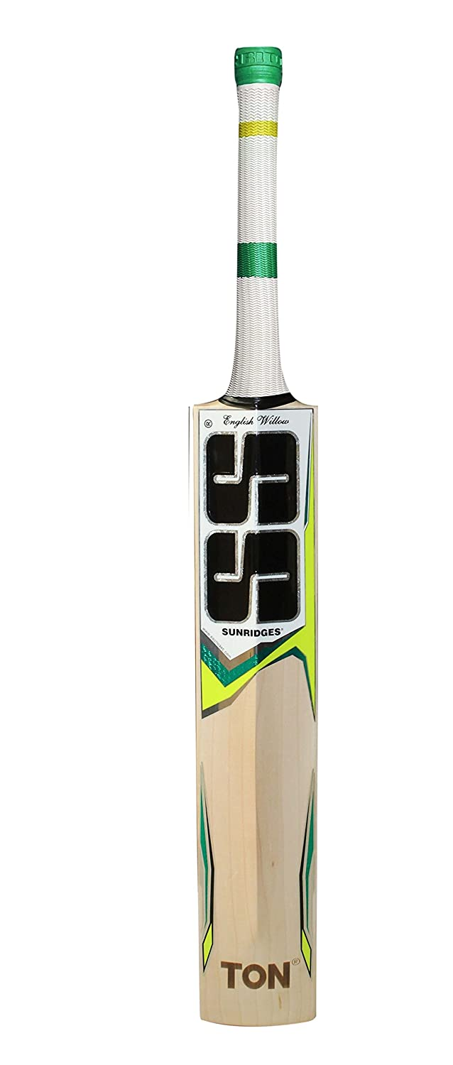 SS TON Premium English Willow Cricket Bat Free Extra Grip, Bat Cover Included 2019 Series