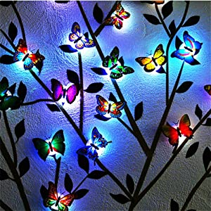 (Pack of 24) 3D Luminous Butterfly Wall Stickers Decor Art Decorations, Home Decorations Art Decor Wall Stickers for Wall Decor Home Art Kids Room Bedroom Decor