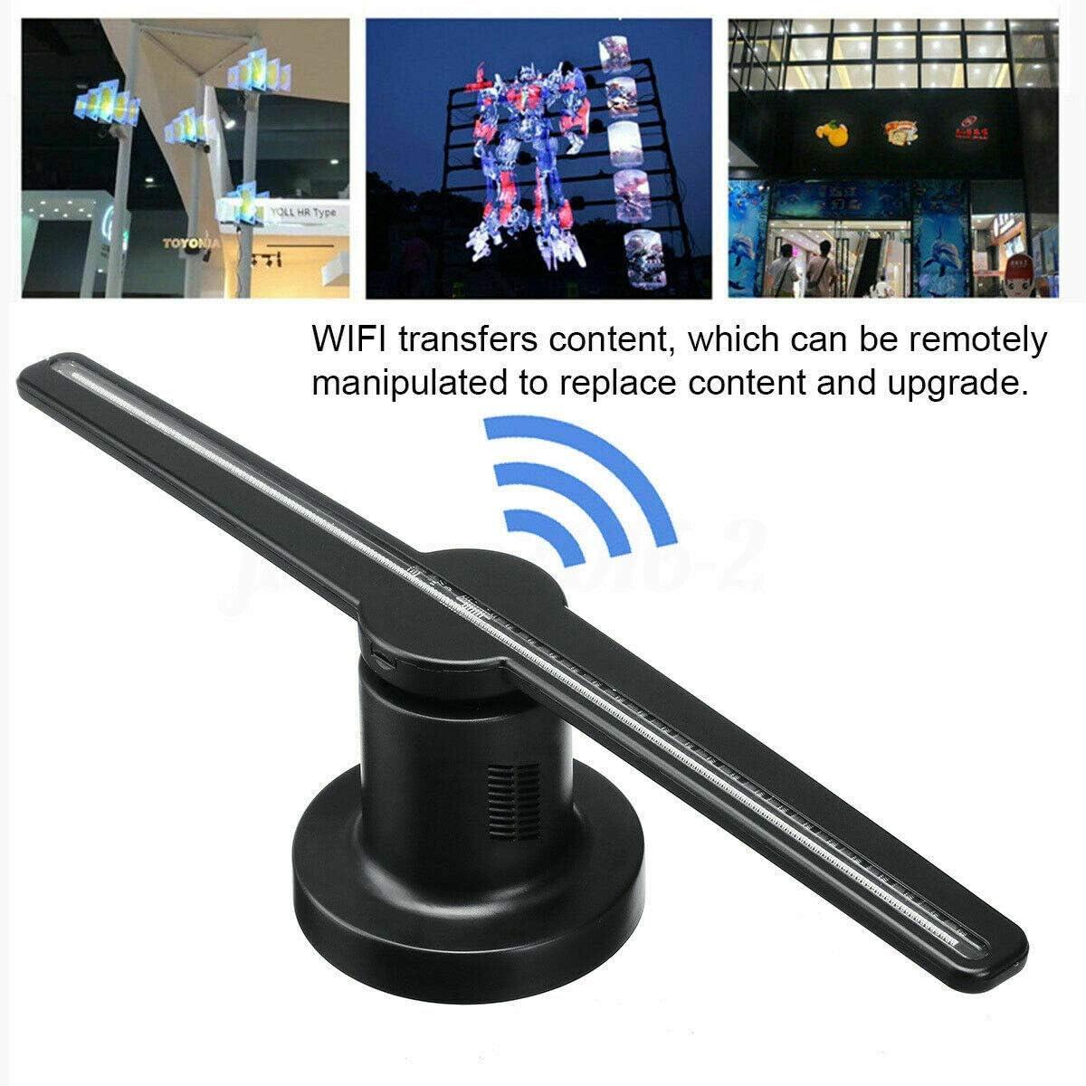 WXJHA 3D Ventilador Publicidad holográfica de proyección, Pantalla LED de Holograma Fotos y vídeos 42cm / 16.5Inch Películas Cine televisores Memoria proyector de Pantalla: Amazon.es: Hogar