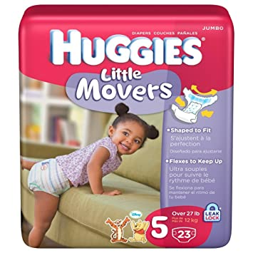 Huggies Diapers Little Movers Supreme Size 5 Jumbo Pack 23 Count