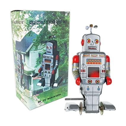 Off the Wall Toys Vintage Style Side Stepping Mechanical Robot