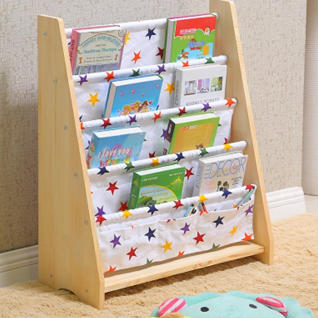LUYIASI Farbe : A B/ücherregal Child B/ücherregal Kindergarten B/ücherregal Child Home Einfache Painted Frame Cartoon Spielzeug Lagerregal Shelf