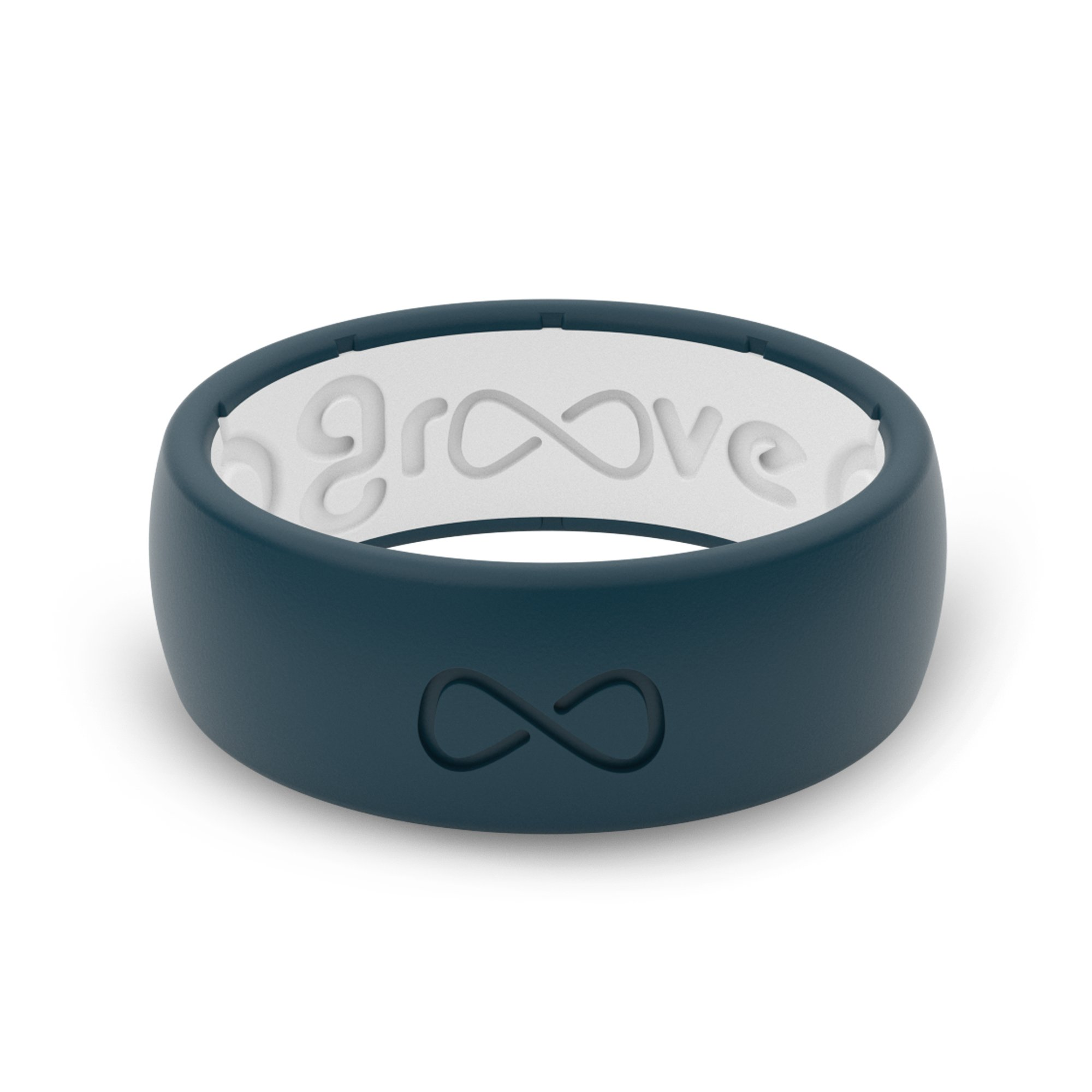 Groove Plus Life - Groove Ring The World's First Breathable Silicone Ring Original (Anchor Blue/Snow White) (Size 7)
