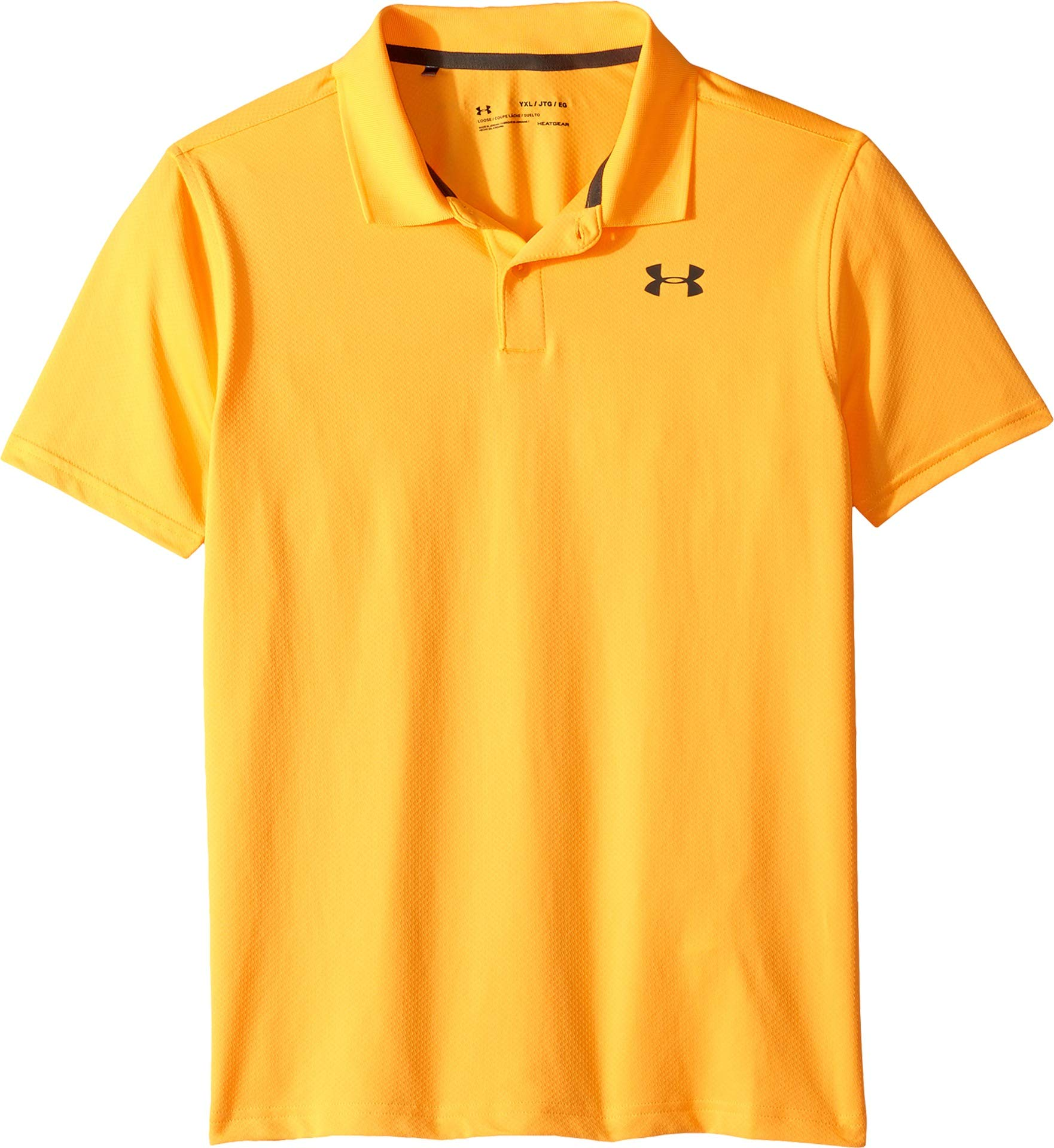Under Armour Performance Polo 2.0, Mango Orange//Pitch Gray, Youth X-Small