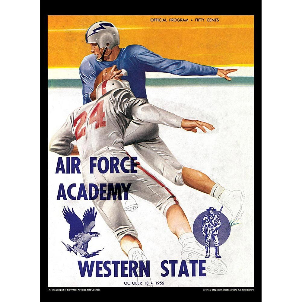 Football Vintage 2015 Football Calendar Air Force Falcons