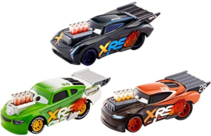 Amazon Com Disney Pixar Cars Xrs Drag Racing 3 Pack Toys Games