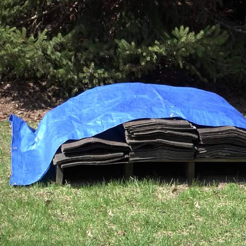 6.5 x 13ft AITREASURE Heavy Duty Tarpaulin Multi-Purpose Poly Tarp Cover Waterproof Rainproof Sunscreen Shelter Truck Shade Cloth with Grommets
