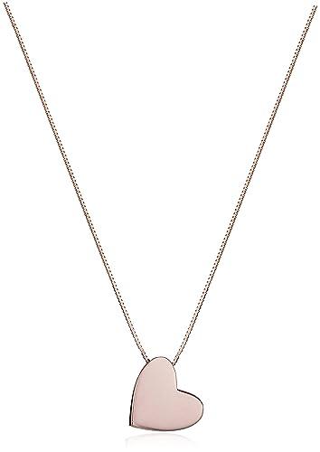 Amazon 14k rose gold floating angled heart pendant necklace 17 14k rose gold floating angled heart pendant necklace 17quot mozeypictures Choice Image