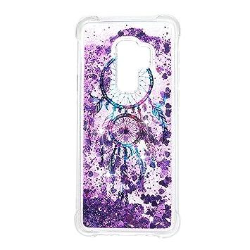 Carcasa para Samsung Galaxy S9 Plus, carcasa brillante con purpurina líquida flotante, carcasa flexible