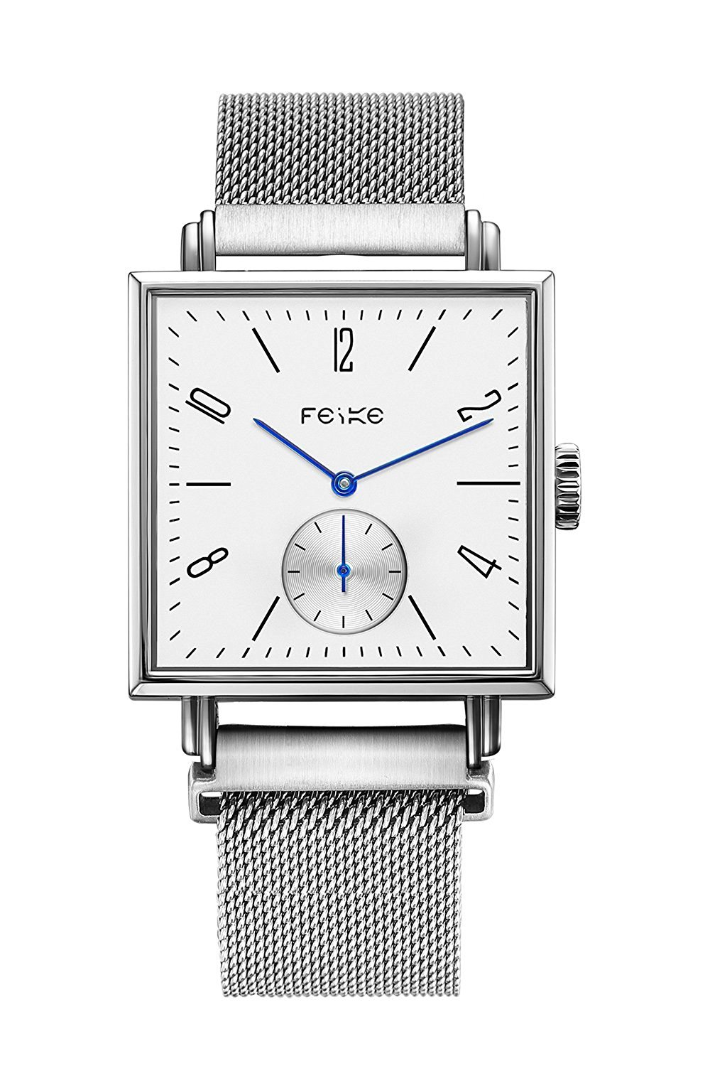 FEICE Casual Men's Automatic Mechanical Watch with Synthetic Sapphire #FM301(Sliver)