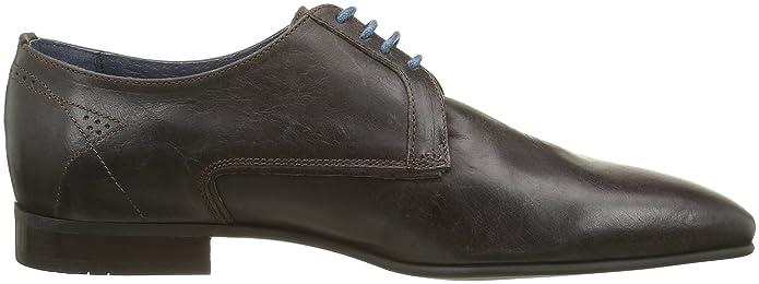 Mauro, Chaussures Lacées Hommes, Noir (Veau Dirty Noir), 40 EUHexagone