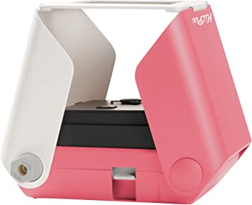 Kiipix Portable Portable Printer Photo Scanner Compatible With Fujifilm Instax Mini Film Pink Camera Photo