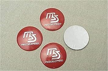 yongyong218 4X 56mm Mazda Velocidad Gorra Roja Centro De Rueda Tapacubos Adhesivos con el Logotipo de Reino Unido: Amazon.es: Coche y moto