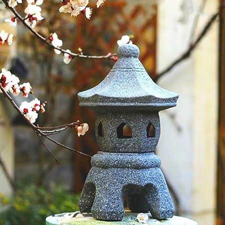 zenggp Farol Asiático Pagoda Jardín Chino Japonés Ornamento Escultura Linterna Zen Decoración Cerámica Grande: Amazon.es: Hogar