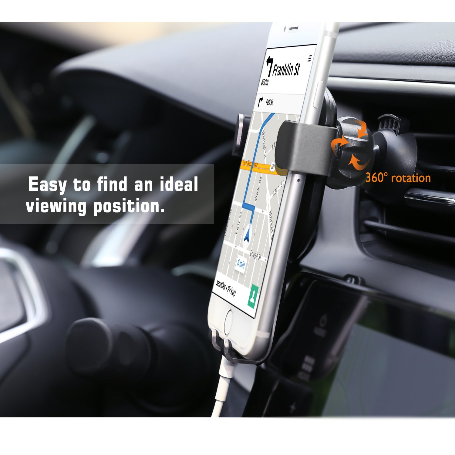 Google Sony Black 4351547943 Universal Car Air Vent Smartphone Holder with Auto-Locking Design for 4-6.5 Devices MoKo Car Phone Mount Compatible with Galaxy S9//S9 Plus iPhone Xs Max//Xs//XR// 8 Plus// 7