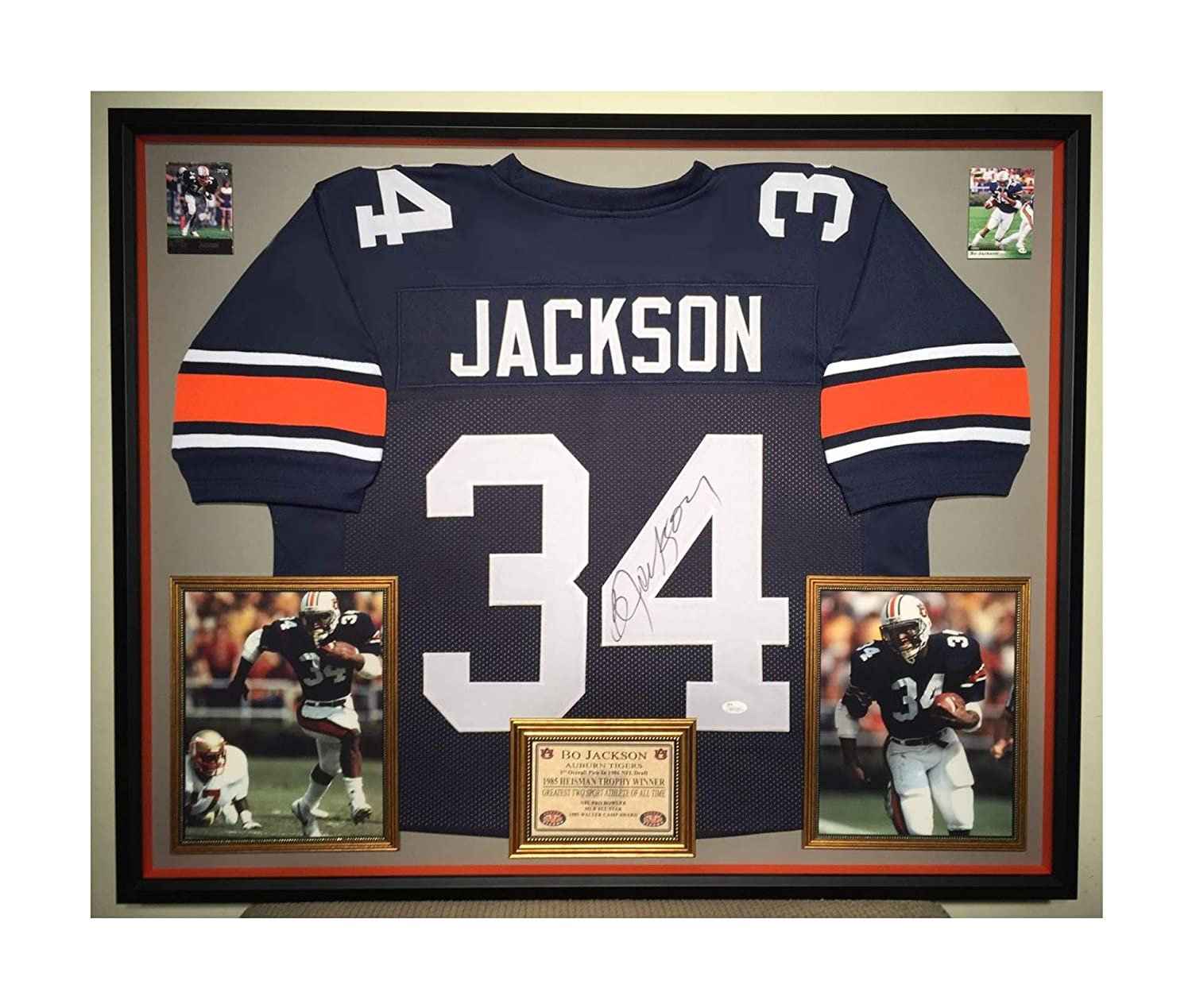 check out 07804 e3055 Premium Framed Bo Jackson Autographed/Signed Auburn Tigers ...