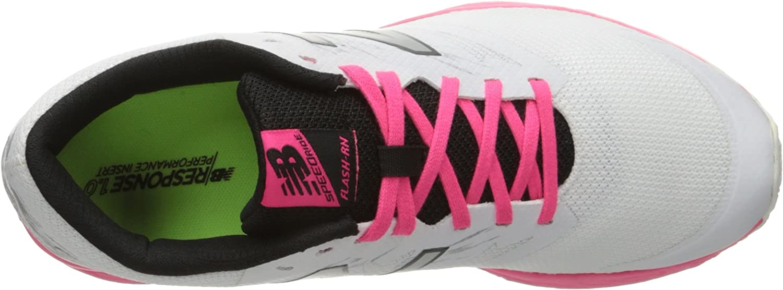 New Balance Damen Flash Run V1 Hallenschuhe White/Alpha Pink