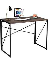 Writing Computer Desk Modern Simple Study Desk Industrial Style Folding  Laptop Table For Home Office Brown