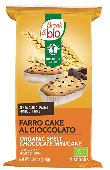 Probios Break&Bio Minicake de Espelta Chocolate - 12 paquetes