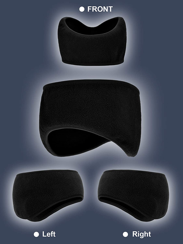 6 Pieces Ear Warmer Headbands Winter Ear Muffs Headband Sports Full Cover Headbands for Outdoor Activities Sports Fitness Grey, Navy Blue, Black