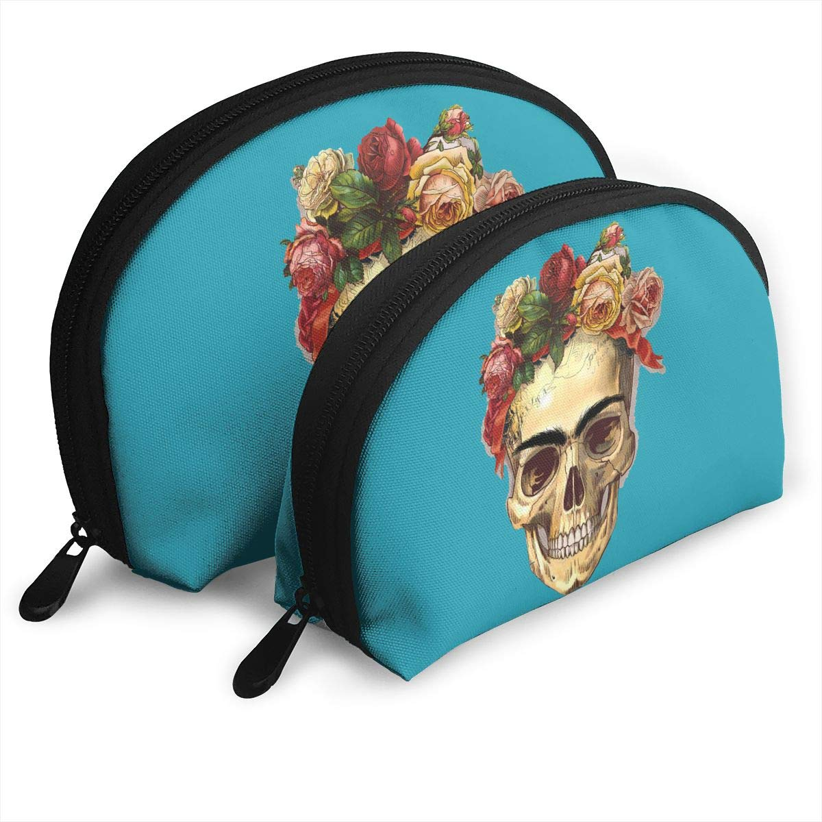 MFILM FVAFN Skulls of Famous Artists Makeup Storage Bag, Portable Small Shell Handy Organizer Pouch for Women