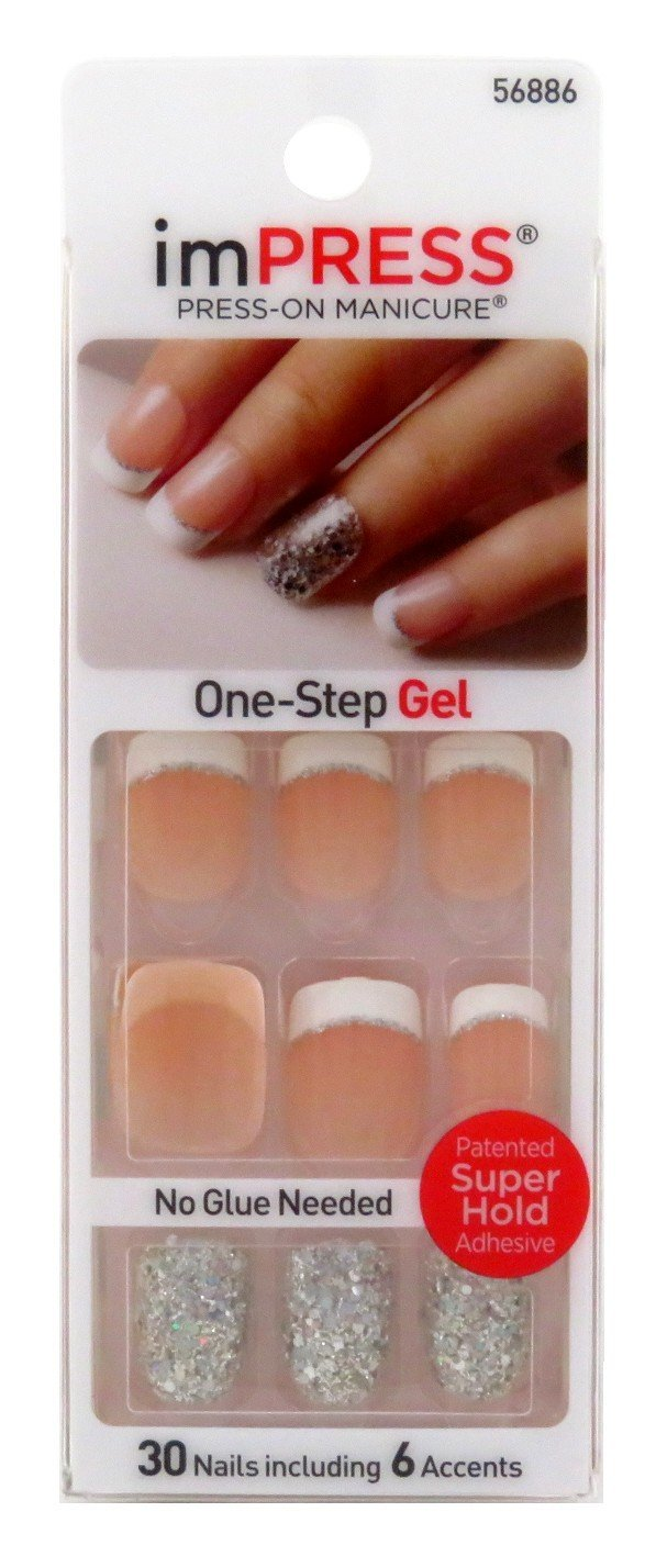 imPress Press On French Manicure Nails Kiss Products Inc BIPD010GT