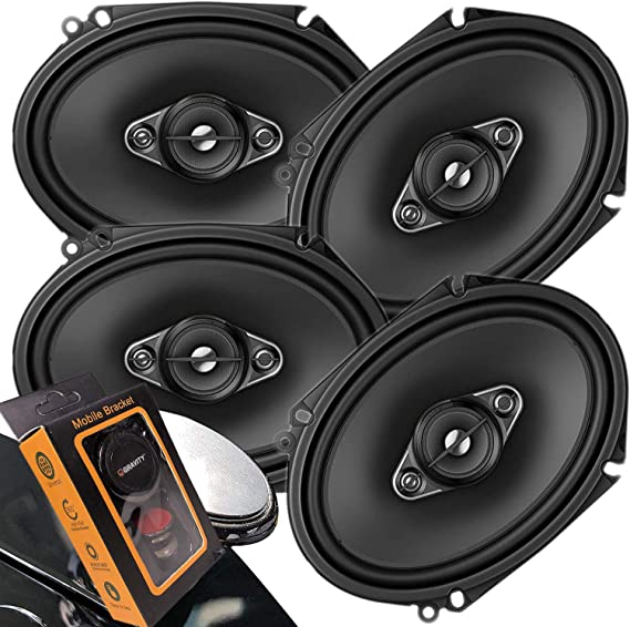 TS-A1680F Pair of Pioneer 6-1//2 6.5 4-Way 350 Watt Coaxial Car Audio Speakers 2 Speakers + Gravity Phone Magnet Holder