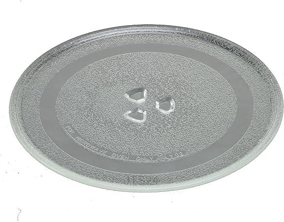 DeClean Microondas Plato 24,5 cm Plato de Cristal Platos ...