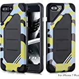 iPhone 7 Plus and 8 Plus Case, Techstudio Advanced Dual Layer Heavy Duty Protection [Shock Absorption Technology] Stylish Armor Strength Resistant Protective Cover for Apple iPhone 7 Plus and 8 Plus (iPhone 7 Plus, Yellow)