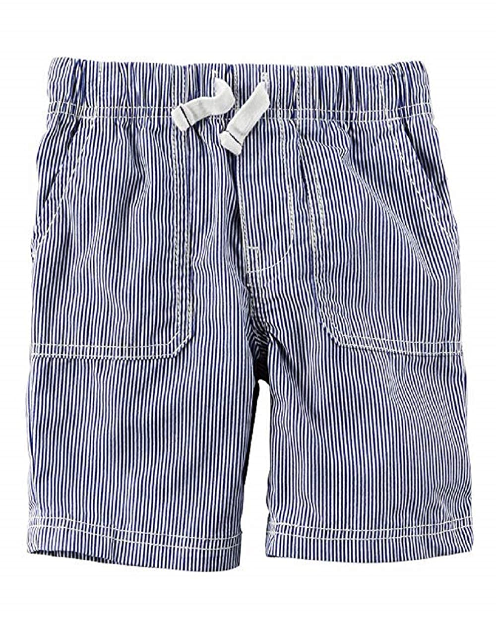 4-Kids Carters Little Boys Pull-On Striped Poplin Shorts