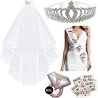 SicurezzaPrima Juego de decoración para despedida de soltero, decoración de despedida de soltero, accesorios JGA, corona…