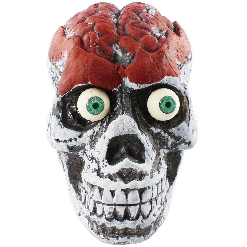 Com Four Tischdeko Schadel Bloody Brain Schwarz Rot Weiss 01