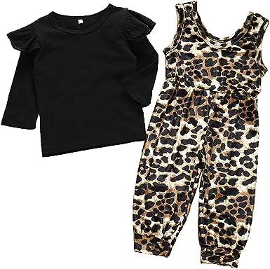 Chennie 2pcs / Set Ropa para niñas pequeñas Camisa Negra de ...