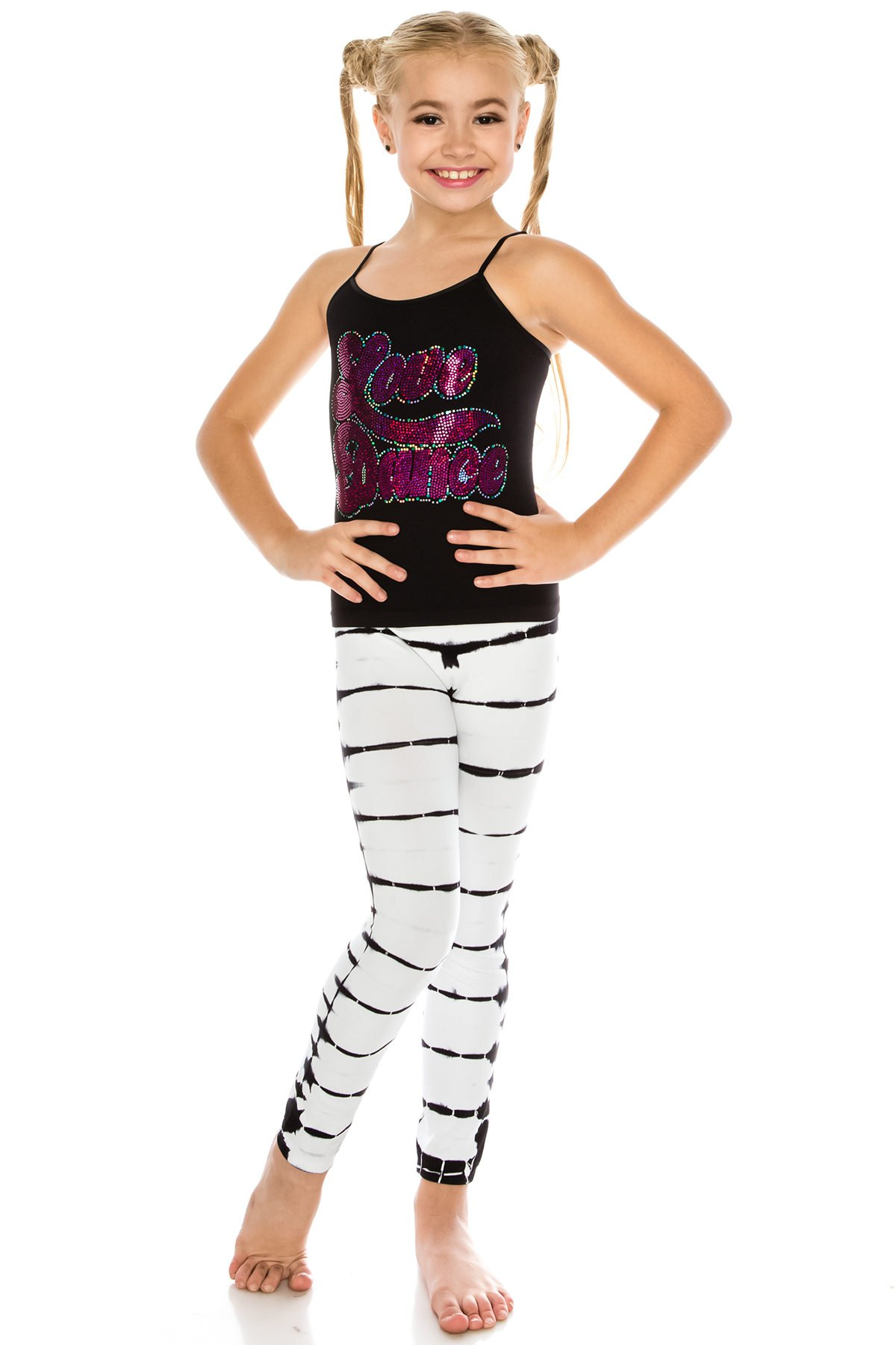 Kurve Kids 2-Piece Dance Outfit - One Size Age 4 To 9 - Made In USA- (Love Dance FS Tie Dye Set, One Size (4-9))