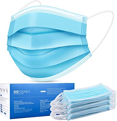 Disposable Face Masks, Face Masks of 50 Pack Disposable Mask