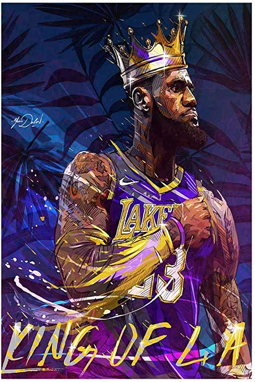 Lebron James Basketball Art Silk Canvas Poster Wall Art Home Decor 24x36 inch