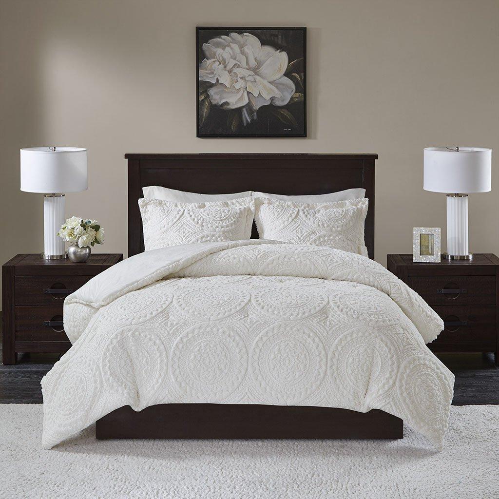 Arya Medallion Ultra Plush Comforter Mini Set Blush Full//Queen Madison Park MP10-5061