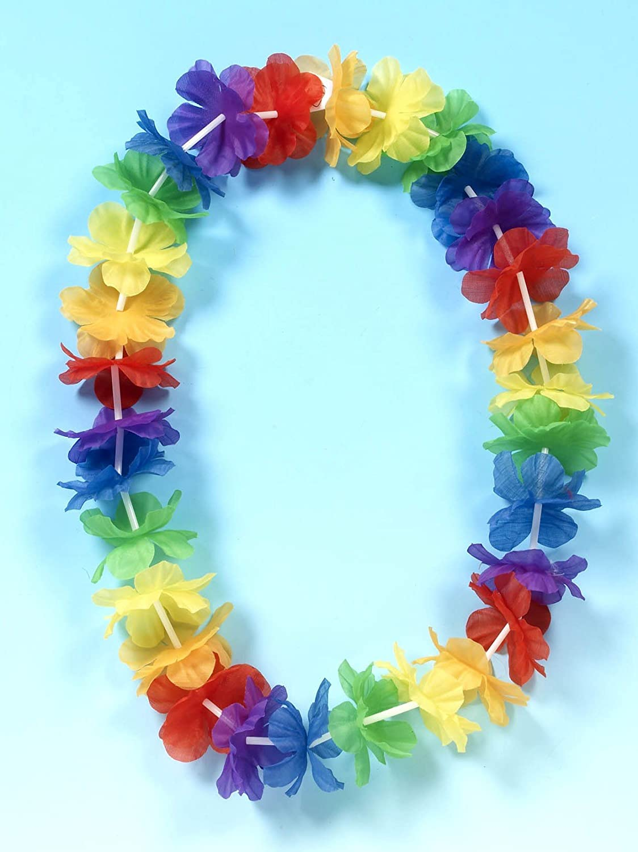 Hawaiian flower garland amazon toys games izmirmasajfo Gallery