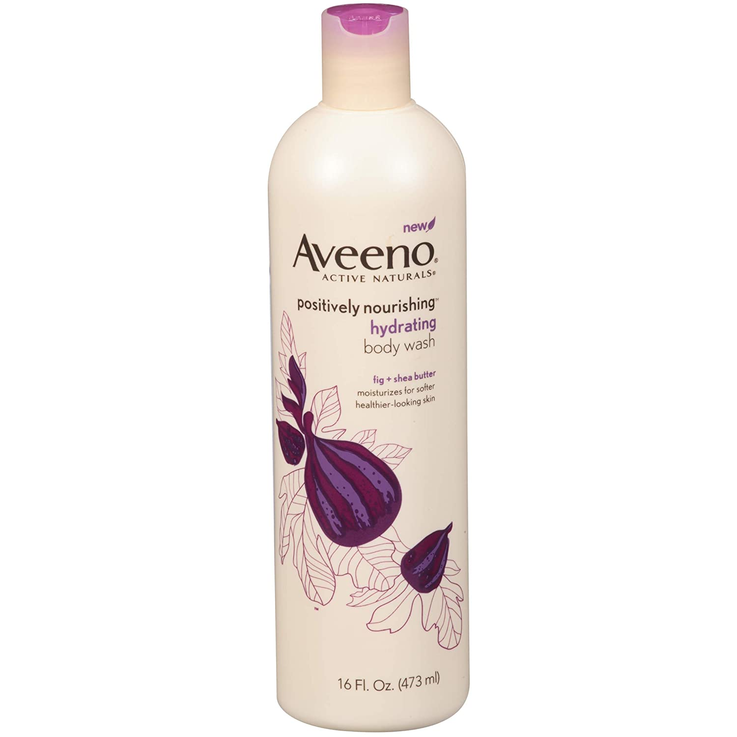 Aveeno Positively Nourishing Hydrating Body Wash, 16 Ounce (Pack of 2)