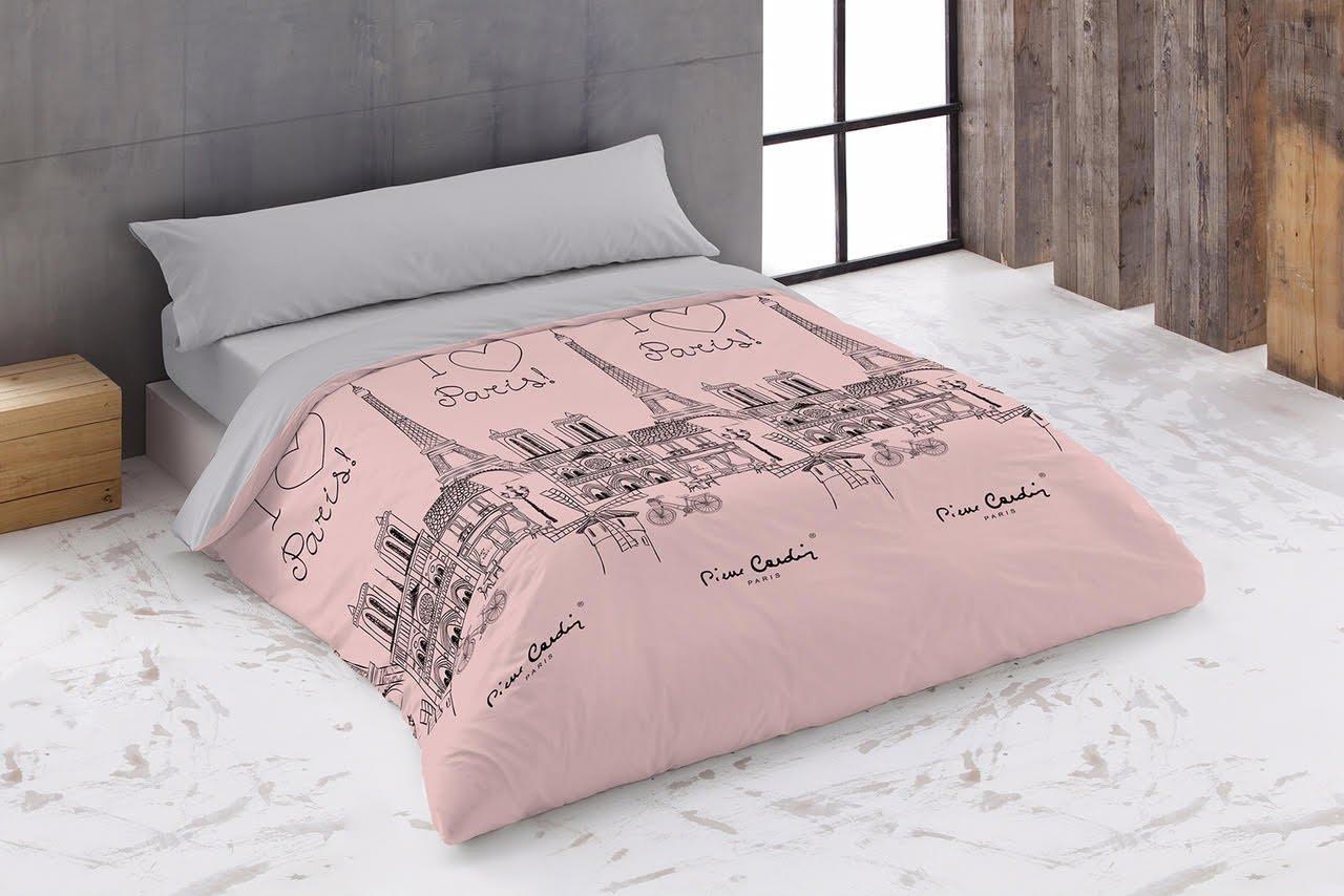 PIERRE CARDIN, PARIS - Funda Nordica 100%algodón 2 piezas. (ROSA, 135)