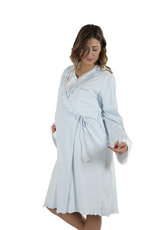 Premamy - Mujer Bata Premamá Para Embarazo y Lactancia - Color: Lila: Amazon.es: Ropa y accesorios