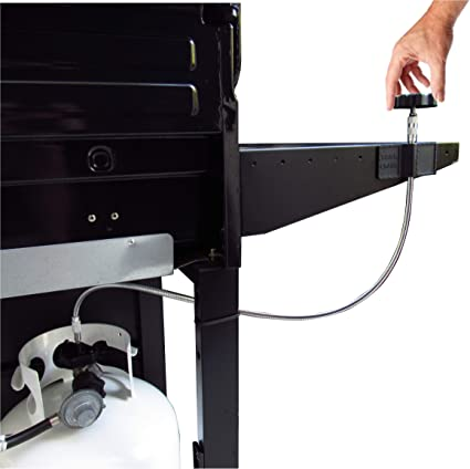 Gas Grill Propane Tank Extension Handle Best Value Extends Gas Knob Above Grill Attaches to Any Tank /& Any Full Size Grill Universal Fit with NO Tools Needed!