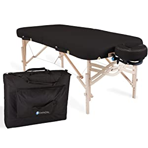 "EARTHLITE Premium Portable Massage Table Package SPIRIT - Spa-Level Comfort, Deluxe Cushioning incl. Flex-Rest Face Cradle & Strata Face Pillow, Carry Case (30/32"" x 73"") - Made in USA"