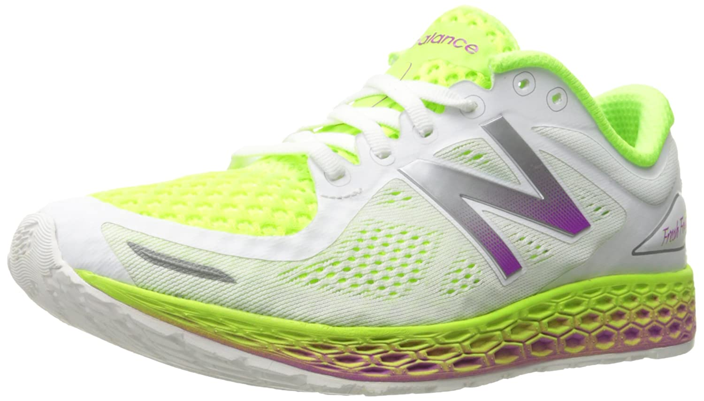 New Balance Women's ZanteV2 Breathe Running Shoe B016419AM2 7.5 B(M) US White/Hi Lite