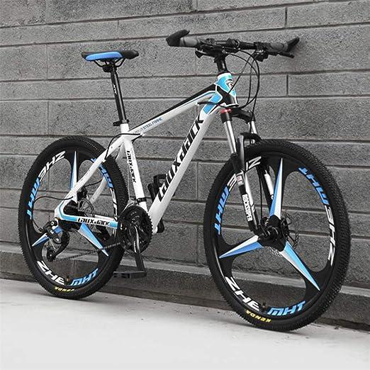 Tbagem-Yjr 26 Pulgadas De Bicicletas De Montaña For Hombre, Deportes For Hombre Ocio MTB Amortiguación De Bicicleta De Montaña (Color : White Blue, Size : 24 Speed): Amazon.es: Hogar