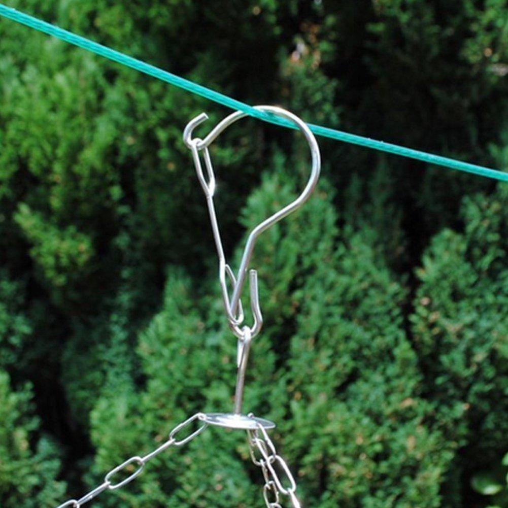 sous-v/êtements short Arc S/èche-linge en acier inoxydable au design anti- /éolien 20//8/pinces /à linge pour chaussettes M/étal serviette /écharpe