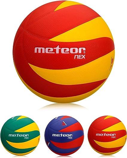 meteor Balón de Voleibol Tamaño 4 y 5 (5, Nex Y&R): Amazon.es ...