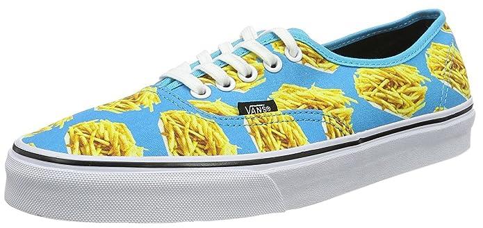 Vans Authentic Schuhe Unisex Erwachsene Blau mit Pommes (French Fries)