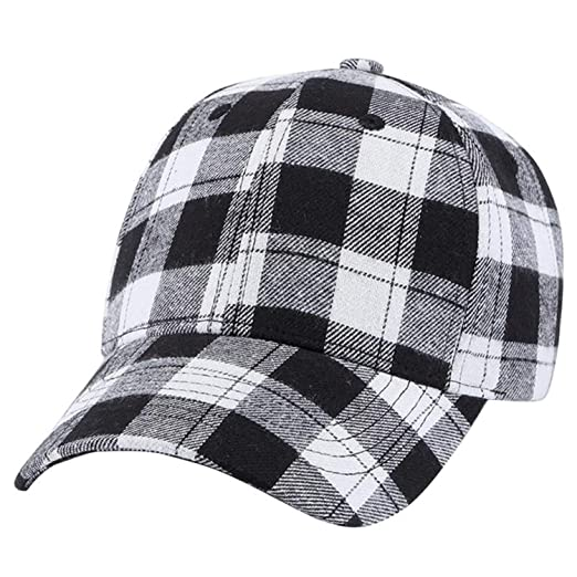 c7428a93e5e Hats Hip-Hop Adjustable Unisex Hat Cap 2019 Casual Men Women Baseball Plaid Snapback  Hats